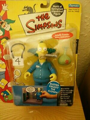 THE SIMPSONS: Busted Krusty The Clown Action Figure -Playmates rare