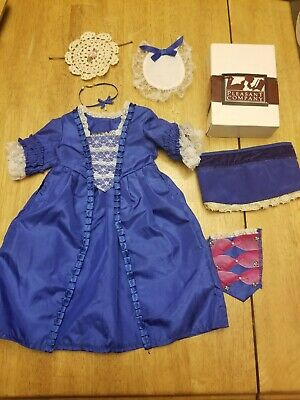 American Girl Doll Pleasant Company Doll Felicity Holiday Gown Blue Dress