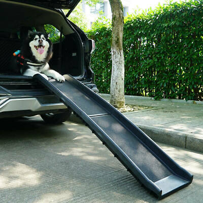 "62"" Portable Dog Ramp Pet Stairs for Folding Trunk Back Seat Ladder Step Car SUV"