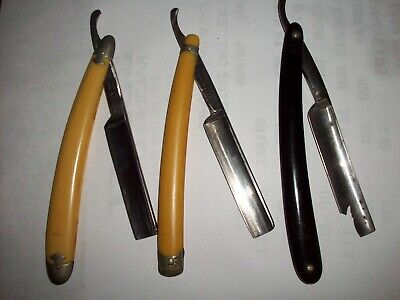 Lot of 3 used Vintage Straight Razers  (PRICE REDUCED)