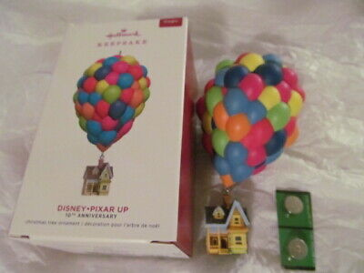 Hallmark Up Pixar House Balloons 10Th Ann Magic Ornament 2019 Disney Keepsake B