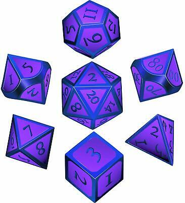 Hestya 7 Pieces Metal Dices Set Dnd Game Polyhedral Solid Metal DD Dice Set Wit