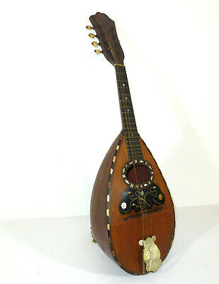 Old Mandolin with Inlaid Mandolina um 1900