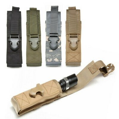 Tactical Hunting Molle Flashlight Holder Bag Mag Pouch Military Tool CQC Holster