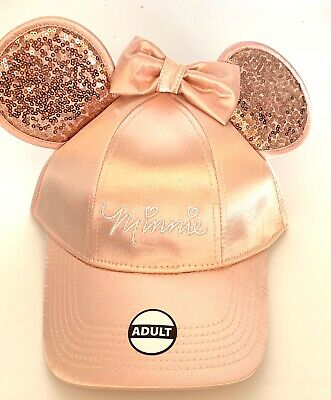 Disney Minnie Mouse Baseball with Ears Rose Gold Women's Hat Cap
