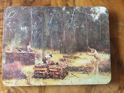 Rare Vintage Set 6 Olympic Tyres Cork Placemats Depicting Art By Aust. Artists