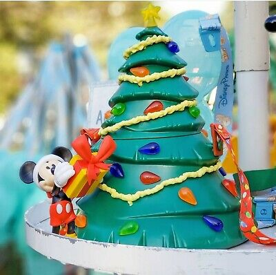 Christmas TREE Popcorn Bucket Mickey Holiday Disney Parks Disneyland