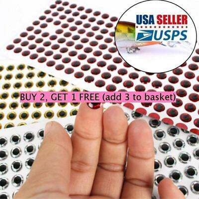 3mm 100pcs Fish Eyes 3D Holographic Lure Eyes Fly Tying Jigs Crafts Dolls H1