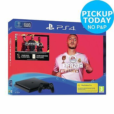 SEALED SONY PLAYSTATION PS4 1TB Console & FIFA 20 Bundle BRAND NEW JET BLACK