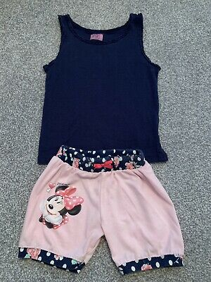 Girl's Minnie Mouse Navy / Pink PJ's - 2-3 Years (F&F)