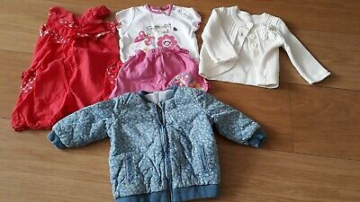 Bundle Of 5 Baby Girls Designer Clothes Aged 3-6 Months - Mixed Colours
