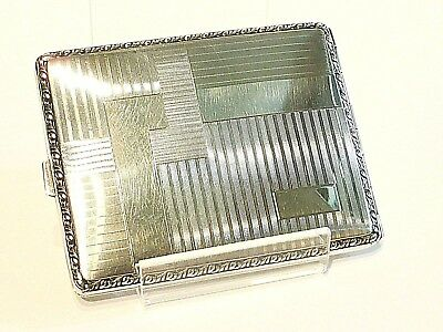 Cigarrera Pitillera Art Deco Cigarette Case Box Alpacca