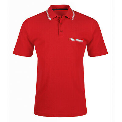 New Mens Polo Shirt Short Sleeve Tipped Contrast Plain Designer Pique Top T Tee