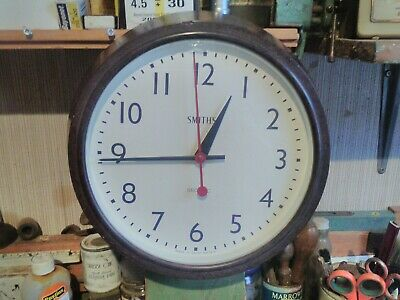 Vintage Smiths Sectric Bakelite Industrial Wall Clock.