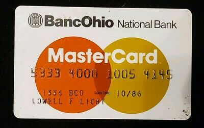BancOhio National  Bank Bank MasterCard exp 86♡Free Shipping♡cc321♡