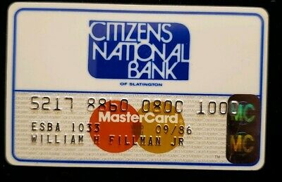 Citizens National Bank MasterCard Credit Card exp 1986 ♡Free Shipping♡ cc143