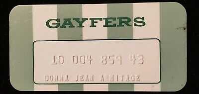 Gayfers Charge Card ♡Free Shipping♡cc385♡ Princess Size