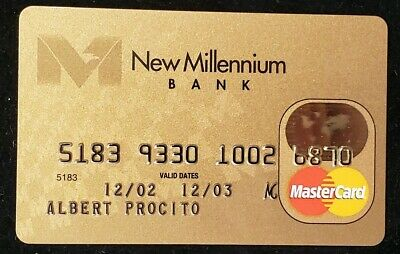 New Millennium Bank Gold MasterCard exp 03♡Free Shipping♡cc344♡ credit card