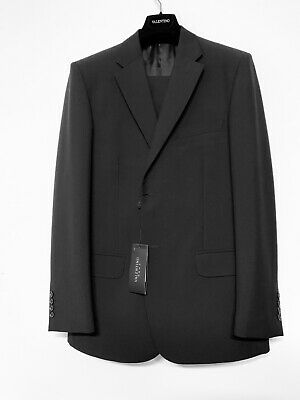 New Valentino Roma 42R Wool Mohair Black Suit $1995 Made In Italy