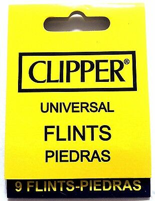 GENUINE CLIPPER LIGHTER UNIVERSAL REPLACEMENT FLINTS REFILLABLE Gas LIGHTERS