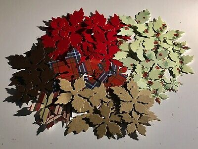 Over 50 Paper Christmas Poinsettia Flowers Set 13