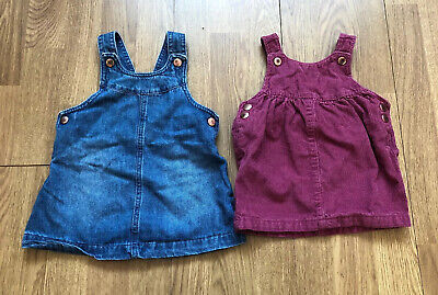 Baby Girl Pinafore Dresses By F&F Age 6-9 Months