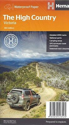 Hema High Country Victoria Map Waterproof 9th edition FREE SHIPPING
