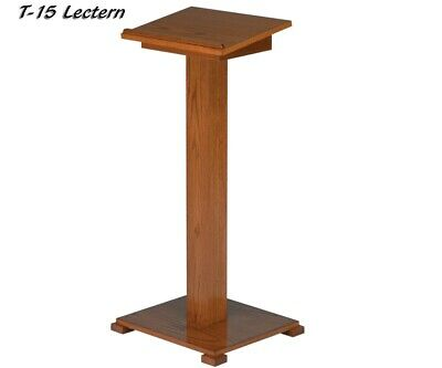Wooden Portable Podium Lectern With Lift Lid Storage Presentation Stand