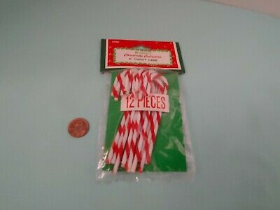 Vintage Miniature Christmas Candy Canes for Mini Trees or crafts 4""