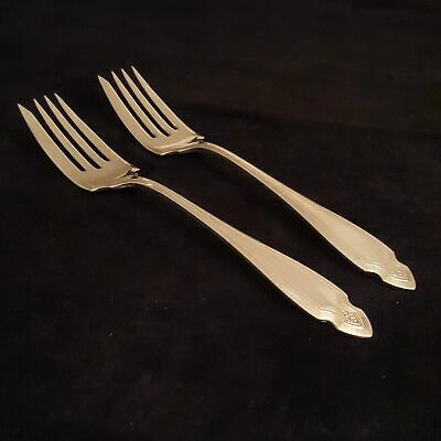 Oneida Wm A Rogers Heirloom Silver Plate Cardinal 2) Salad Forks Fork Craft 6""