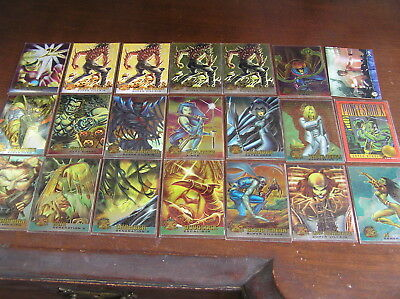 20 metal x men holofoil marvel gold foil signature signed card cards topps