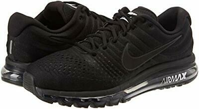 NIKE AIR MAX 2017 $190 Men's Running Training shoes AUTHENTIC 849559 004 Black