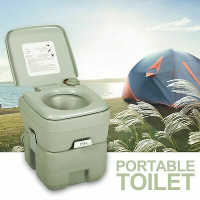 Portable Toilet Flush Travel Camping Commode Potty Outdoor/Indoor 5 Gallon 20L
