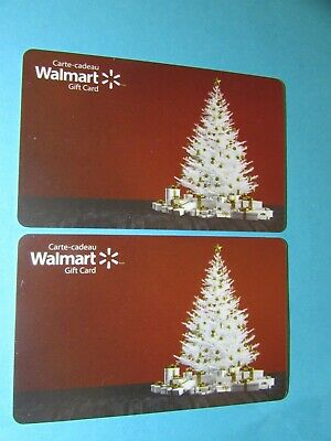 2019 Walmart Canada Christmas Tree Gift Cards No Value 2 Cards
