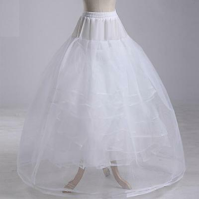 Bridal wedding petticoat underskirt dress slip skirt crinoline 4 layers No bone
