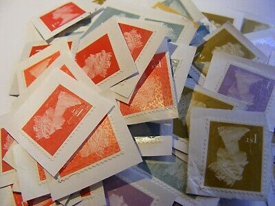 100 1st class stamps  unfranked untrimmed    (lot 464)