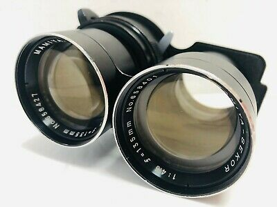 [Exc+++++] Mamiya Sekor 135mm f/4.5 Blue Dot Lens for TLR C220 C330 from JAPAN