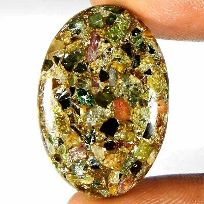 23.60Cts100%Natural Multi Copper Tourmaline Oval Cabochon Loose Gemstone