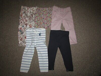 Lot of 5 pairs Next girls 12-18 months leggings / chinos / trousers - VGC