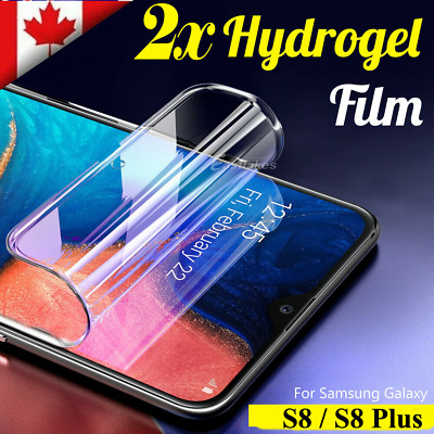 For Samsung Galaxy S8 S8 Plus 2x Full Coverage Hydrogel Screen Protector Film