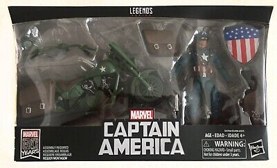 Marvel Legends | 80 Years | Captain America With Motorcycle | Action Figure