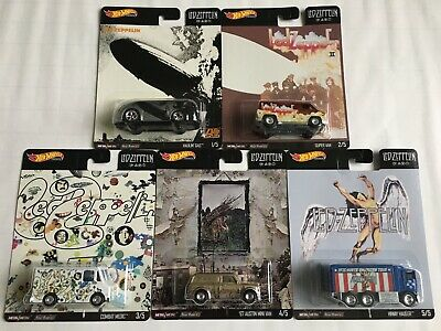 Hot Wheels 2020 Pop Culture Led Zeppelin Complete Set Of 5 - New Ready To Ship