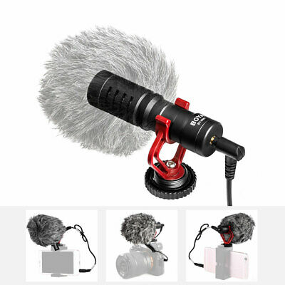 BY-MM1 Cardiod Shotgun Video Microphone MIC Video for iPhone Samsung Camera H4S8
