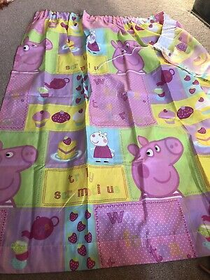 Peppa Pig unlined curtains each 64'' wide X 70'' long