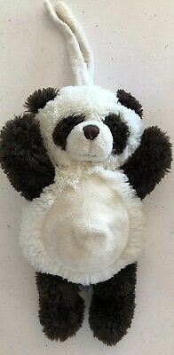 Kormico Black & White Panda With Strap To Attach To Pram/cot & Musical Cord