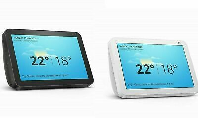 """New Echo Show 8"""" HD smart display with Alexa Black or White latest 2019 !!!"""