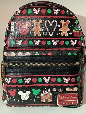 Disney Parks Loungefly Holiday Snacks Christmas Mini Backpack **New
