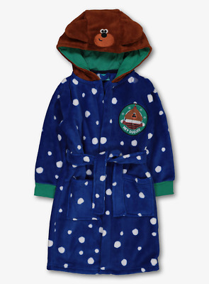 Hey Duggee Official Boys Blue Supersoft Fleece Hooded Dressing Gown 1 to 4 Years