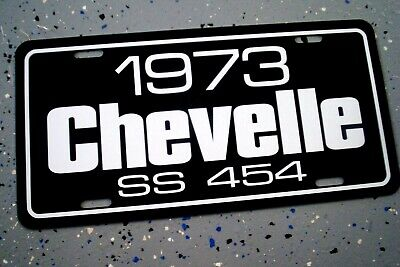 1973 Chevrolet CHEVELLE SS 454 Chevy Super Sport license plate car tag BIG BLOCK