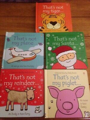 """That's not my"" books bundle - Reindeer, Plane, Santa, Piglet, Tiger."